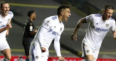 Rodrigo Moreno hace el gol del Leeds ante Manchester City
